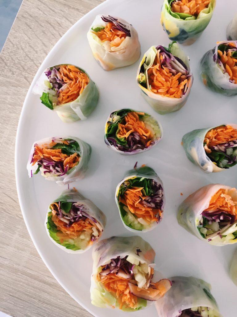 spring rolls vegetarians
