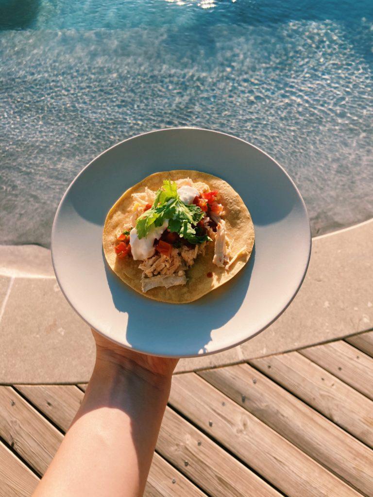 tacos et piscine